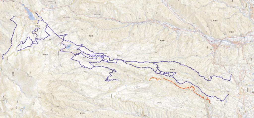 白樺高原のMTBコースマップイメージ